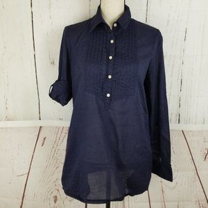 Banana Republic Button Top Blouse Sz M Blue